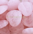 GEMSTONE BEADS ROSE QUARTZ - PUFF HEART BEADS 12MM